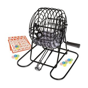 Deluxe Metal Bingo Cage Traditional Family Fun Chance Luck Board Game 3 Players+