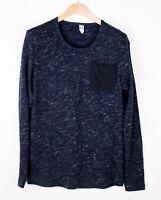 G-Star Raw Herren Neoth Freizeit Sweatshirt Henley Pullover Größe L ARZ1781