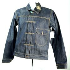 NWT Third & Army Denim Jean Jacket, Buckle Back Vintage Style New w/ Tags Size S