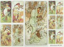 Carta di riso-Alphonse Mucha-per decoupage scrapbooking FOGLI