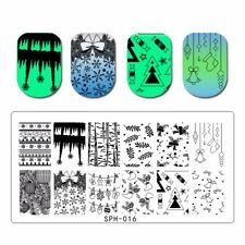 CHRISTMAS NAIL ART STAMPING PLATE SNOWFLAKE STAMP IMAGES DESIGNS PLATES SPH 016