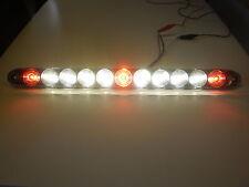 "USA- 15"" TecNiq Red 3 ID Bar w/Reverse white Back up light 11 LED Truck Trailer"