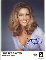 Jennifer Rovero Signed 8x10 Photo PSA/DNA COA 1999 Playboy Headshot Picture Auto