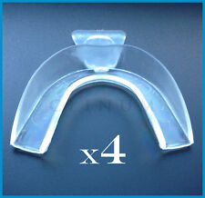 4 x Teeth Whitening Mouth Trays Shields Gum Moulds Remouldable