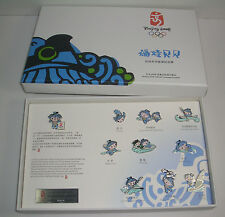 2008 Beijing Olympic Mascot BeiBei pin set Swimming Diving Rowing Water polo etc