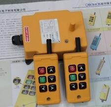 2 Transmitters 6 Channels Hoist Crane Radio Remote Control System 110V AC