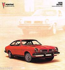 1976 Pontiac ASTRE Dealer Sales Brochure/Catalog