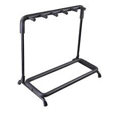 5 Five Multiple Guitar Folding Stand Bass Acoustic Guitar Holder Rack Display
