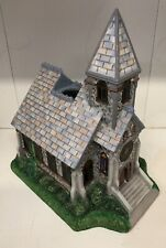 PartyLite The Church Olde World Village Tealight House Candle Holder P7321