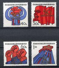 32958) CZECHOSLOVAKIA 1971 MNH** Communist Party 4v