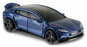 226 - 2019 Hot Wheels HW Green Speed 2013 Tesla Model S Die-Cast Car Dark Blue