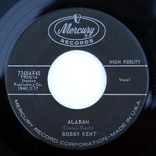 HEAR Bobby Kent 45 Alabam/I Walk With You MERCURY 71684 rockabilly rocker teen
