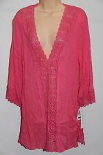 NWT La Blanca swimsuit bikini Cover Up Tunic Dress Sz M PKB