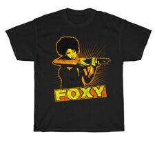 VINTAGE PAM GRIER FOXY BROWN T-SHIRT BLACK UNISEX COTTON SIZE S TO 3XL