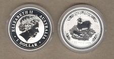 2003 Australia Lunar Series One Ounce Silver Year Of The Goat Coin