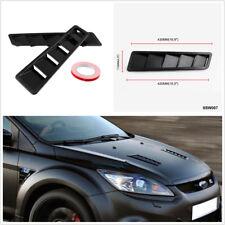 High Quality 2X Matte Carbon Fiber Pattern ABS Car Hood Vents Louver Panel Trim
