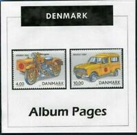 Denmark - CD-Rom Stamp Album 1851-2016 Color Illustrated Album Pages