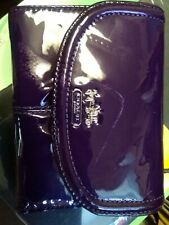 COACH PURPLE PATENT LEATHER WALLET, NEW