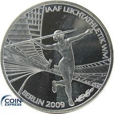 *** 10 Euro DEUTSCHLAND 2009 Leichtathletik WM Weltmeisterschaft F Silber ***