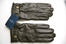 LARGE HACKETT Brown Lambskin Leather (Cashmere Wool Lined) Workman Gloves Mens