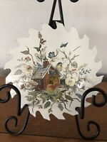 Vintage Painted Saw Blades Bird, Birdhouse, Fruit And Flowers Shabby Chic