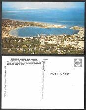 Old North Carolina Postcard - Ocracoke Village and Harbor