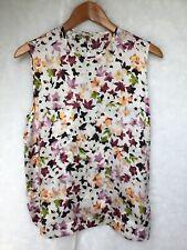 Equipment Femme  Size Small Floral Sleeveless Silk Blouse