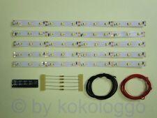 S541 5 Pièces DEL Éclairage voiture 200mm blanc chaud analogique + numérique