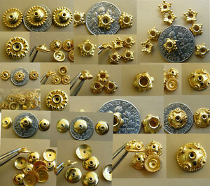 Bead caps vermeil gold over silver many styles to choose from quantity packs