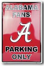 "Alabama Fans Parking Only 18"" X 12"" Aluminum Sign Game Room Man Cave Roll Tide"