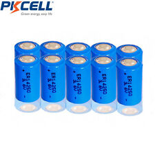 10 pcs ER14250 3.6V 1200mAh 1/2AA Li-SOCl2 High Energy Lithium Battery PKCELL