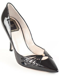 New  Christian Dior Butterfly Patent Leather Pumps Size EU 38.5 US 8.5