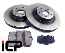 Front 295mm '4 Pots' Brake Discs & Pads Fits Subaru Impreza WRX 00-07