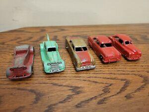"Vintage Tootsietoy Tootsie Toy Lot Of 5! Cars Ford Tow Truck Sedan Convert 3"""