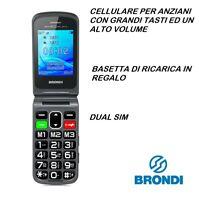 TELEFONINO TELEFONO CELLULARE PER DA ANZIANI BRONDI AMICO FLIP PLUS TASTI GRANDI