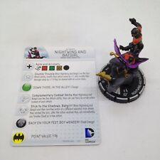 Heroclix Batman set Nightwing and Batgirl #100 Limited Edition figure w/card!