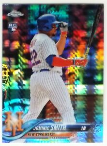 Dominic Smith 2018 Topps Chrome RC Prismatic Refractor #162 - NY Mets