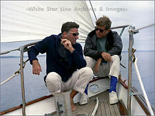 Photo: John F. Kennedy Sails W/ Actor Peter Lawford Aboard USCG Yacht 'Manitou'