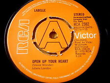 "LABELLE - OPEN UP YOUR HEART     7"" VINYL DEMO"