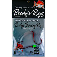 3x Snapper Rigs Pre-Tied Big Reds Snell Running Rigs Reedy's Rigz  Suicide Hook