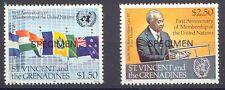 ST. VINCENT 1981 1. Jahrestag Aufnahme St. Vincent in United Nations SPECIMEN **