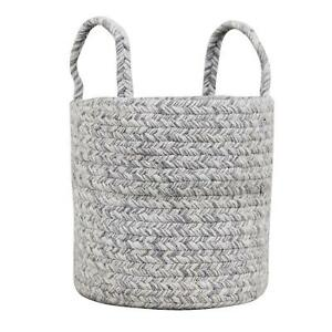 Rustic Farmhouse Braided Basket Set with Handles ( 3 Baskets - 8-10-12 Inch)