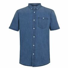 SoulCal Denim Shirt Mens Gents Short Sleeve Everyday Lightweight Chest Pocket