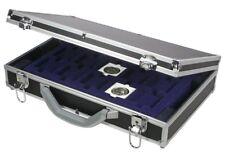 "Coin Holder Case Aluminum w/Black Shockproof For 2""x2"" Flips"