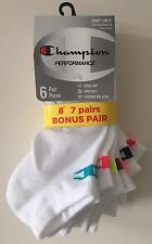 Champion Women's White No Show Socks 7 Pairs Size 5-9 NEW FREE Ship! LAST ONES!