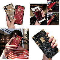 Bling Glitter Protective Case Square Trunk Cover For iPhone 11 Xs Max XR X 8 6s