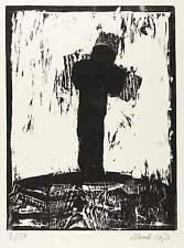 Frank Voigt-a Trakl al tramonto-legno taglio 1981