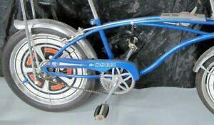 "1 White Huffy Sticker - ""The Wheel"" Rail Muscle Bike Bicycle Chainguard DECAL"