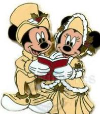 Disney Pin 65933 Victorian Carolers Mickey Minnie Mouse Christmas Carol Singing