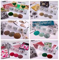 Wow Trio Embossing Powder Glitter & Sparkles Set Of 3 Assorted 15ml Jars Craft